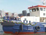 Double Ship-Christening In Port Of Hamburg