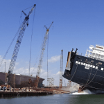 Crowley Launches Industry-Leading, LNG-Powered ConRo Ship At VT Halter Marine