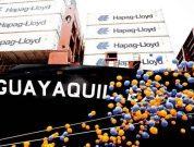 """Hapag-Lloyd Names 10,500 TEU Ship """"Guayaquil Express"""" In Hamburg"""