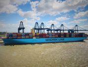 Maersk Madrid Eases Into Felixstowe After Pilot Training Using HR Wallingford's Navigation Simulators