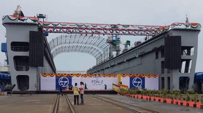 India: First Indigenously Built Floating Dock Launched