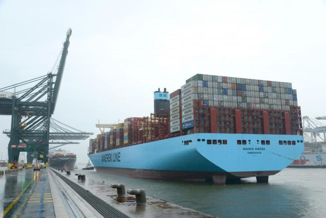 Madrid Maersk Call At Port Of Antwerp Sets New Record