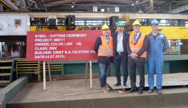 Steel-cutting-project-start-Color-Line-plug-in-hybrid-vessel.jpg_Jan-Helge-Pile-number-3