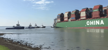 CSCL Jupiter Grounded
