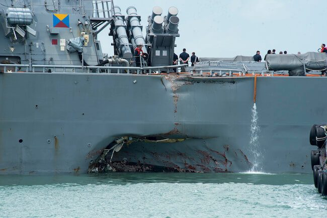 USS John S. McCain Collides With Merchant Ship; 10 Sailors Still Missing