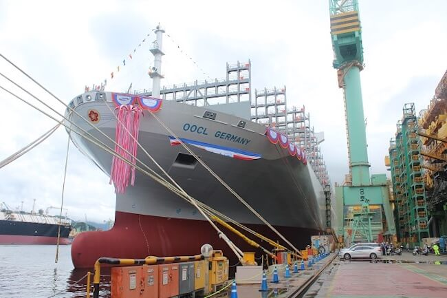 SHI Delivers 21,413 TEU Mega Containership 'OOCL Germany'
