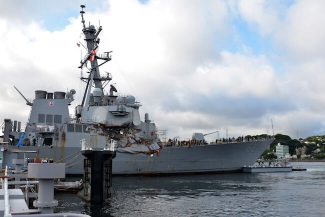 USS Fitzgerald Officers Accountable For The Collision To Be Relieved Of Command