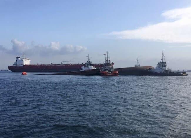 Collision Of Tanker Kartika Segara And Dredger JBB DE Rong 19