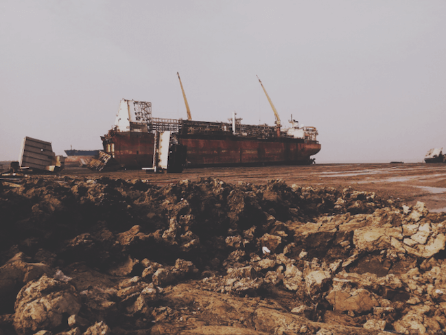 North Sea Producer beached in Chittagong