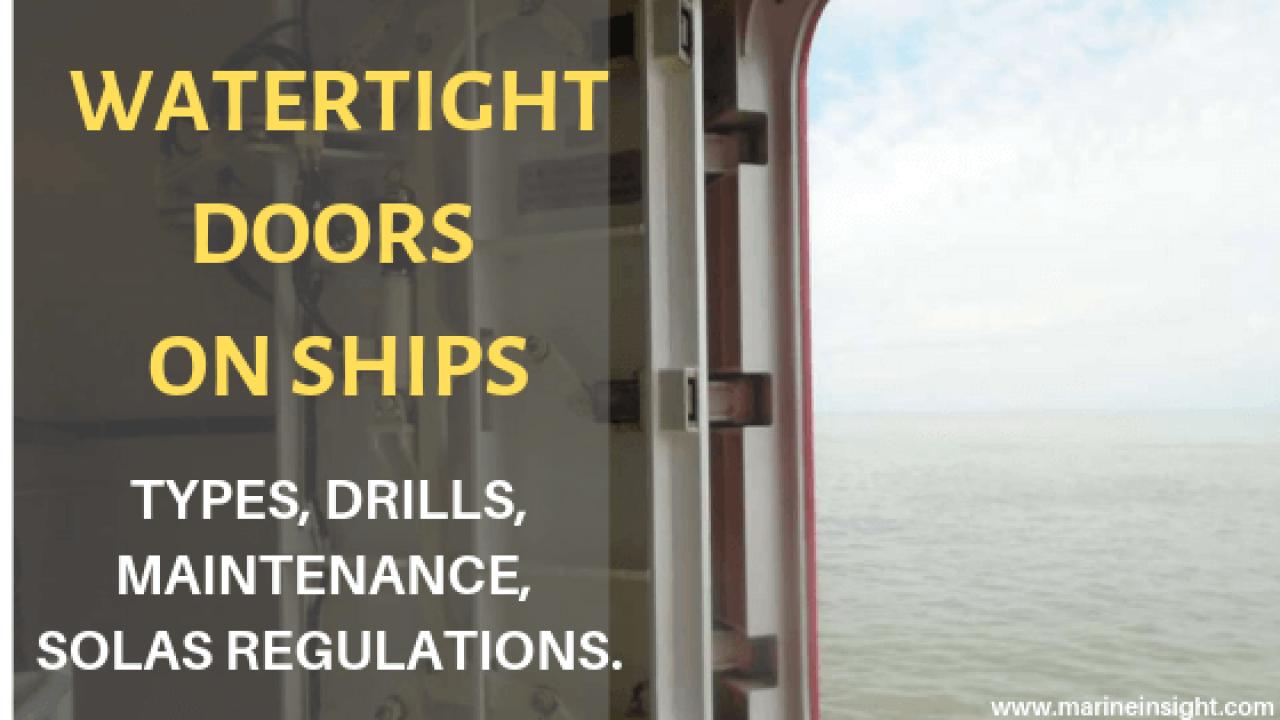 Watertight Doors on Ships: Types, Maintenance & SOLAS