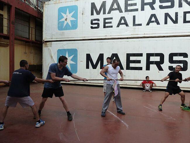 seafarer playing on board