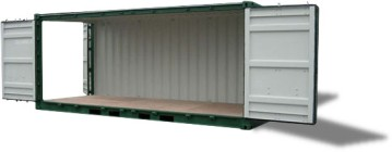 Double doors container