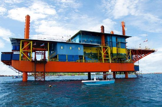 oil rig converted into hotel