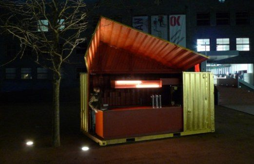 Top 8 restaurants made from shipping containers for Container modulable