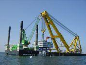 5 Massive Crane Ships Operating at the Sea
