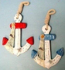2 Nautical Wall Hooks