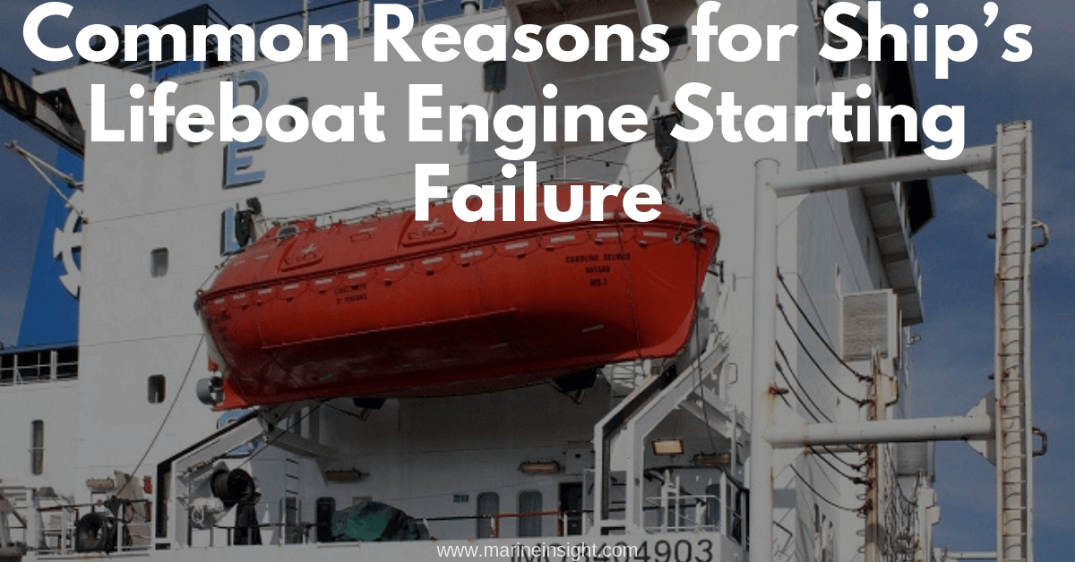 Common Reasons for Ship's Lifeboat Engine Starting Failure