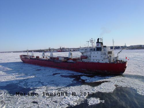 ship navigation in ice