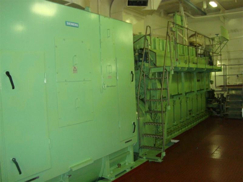 Marine generator engine