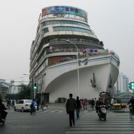 A Ship Restaurant, Chengdu, China