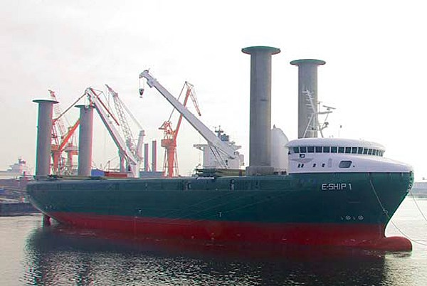EShip 1 With Flettner Rotor