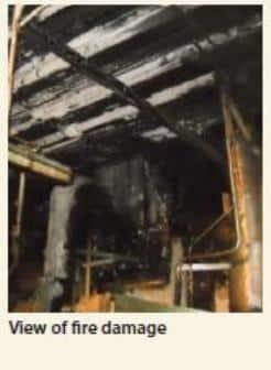 engine room fire