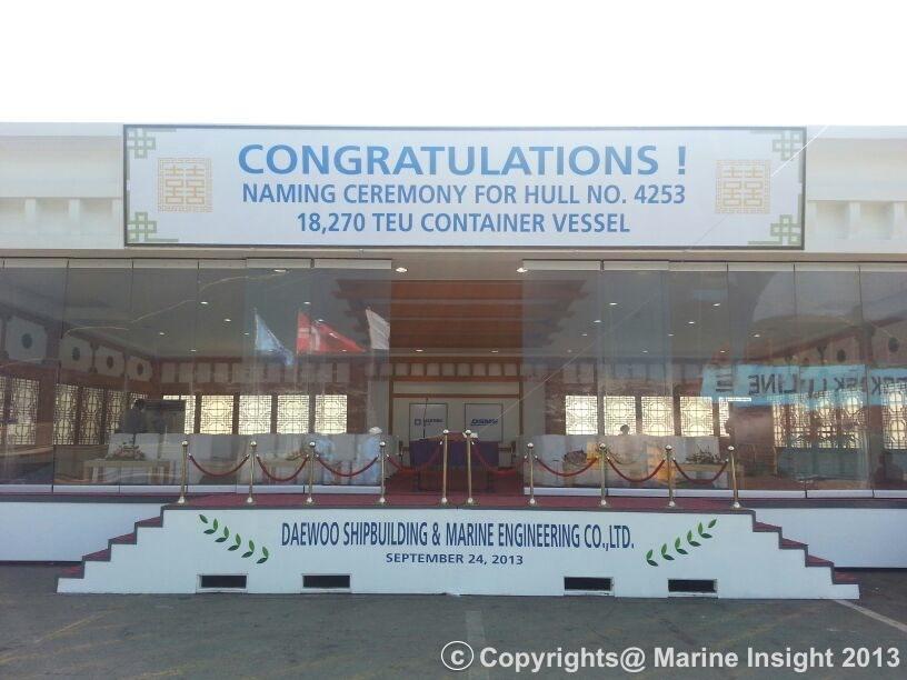 Maersk Triple E Naming Ceremony