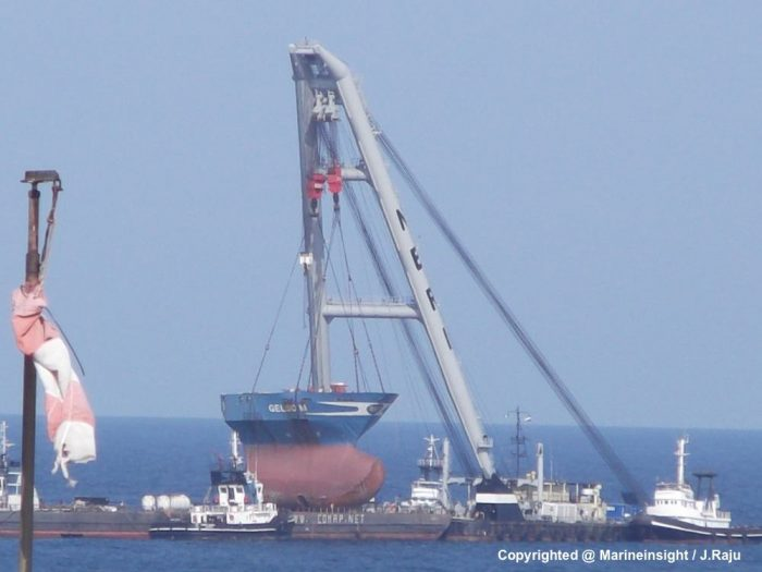 Ship salvage operation