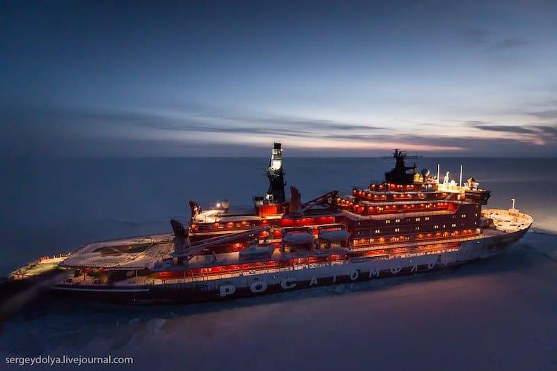 north pole ice breaker