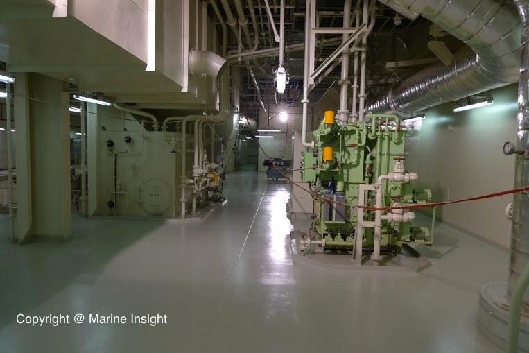 Engine Room Of Maersk Triple- E