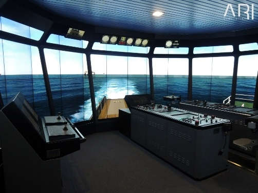 360 deg offshore bridge simulator
