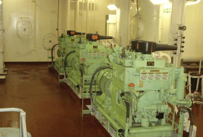 Air Compressor on a Ship