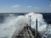 Photo of the Day: Ship Amidst Huge Waves in Taiwan Strait