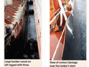 Tanker and Bunker Vessel Suffer Contact Damage During STS Operation