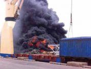 Hot Work Leads To Fire in the Ship's Cargo Hold