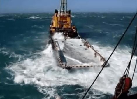 Watch: Dangerous Job On Offshore Supply Vessel, Waves Wash Away Crew