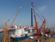 Mammoet Uses World's Biggest Crawler Crane To Install Legs On Ship