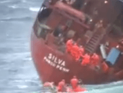 Video: Amazing Rescue Operation Of Cargo Ship M/S Silva, Crew Members Saved