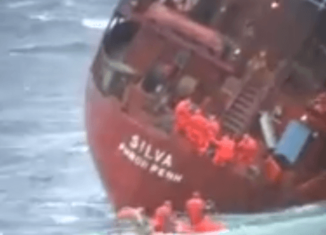Video, Rescue Operation, Cargo Ship, M/S Silva, ESVAGT ALPHA