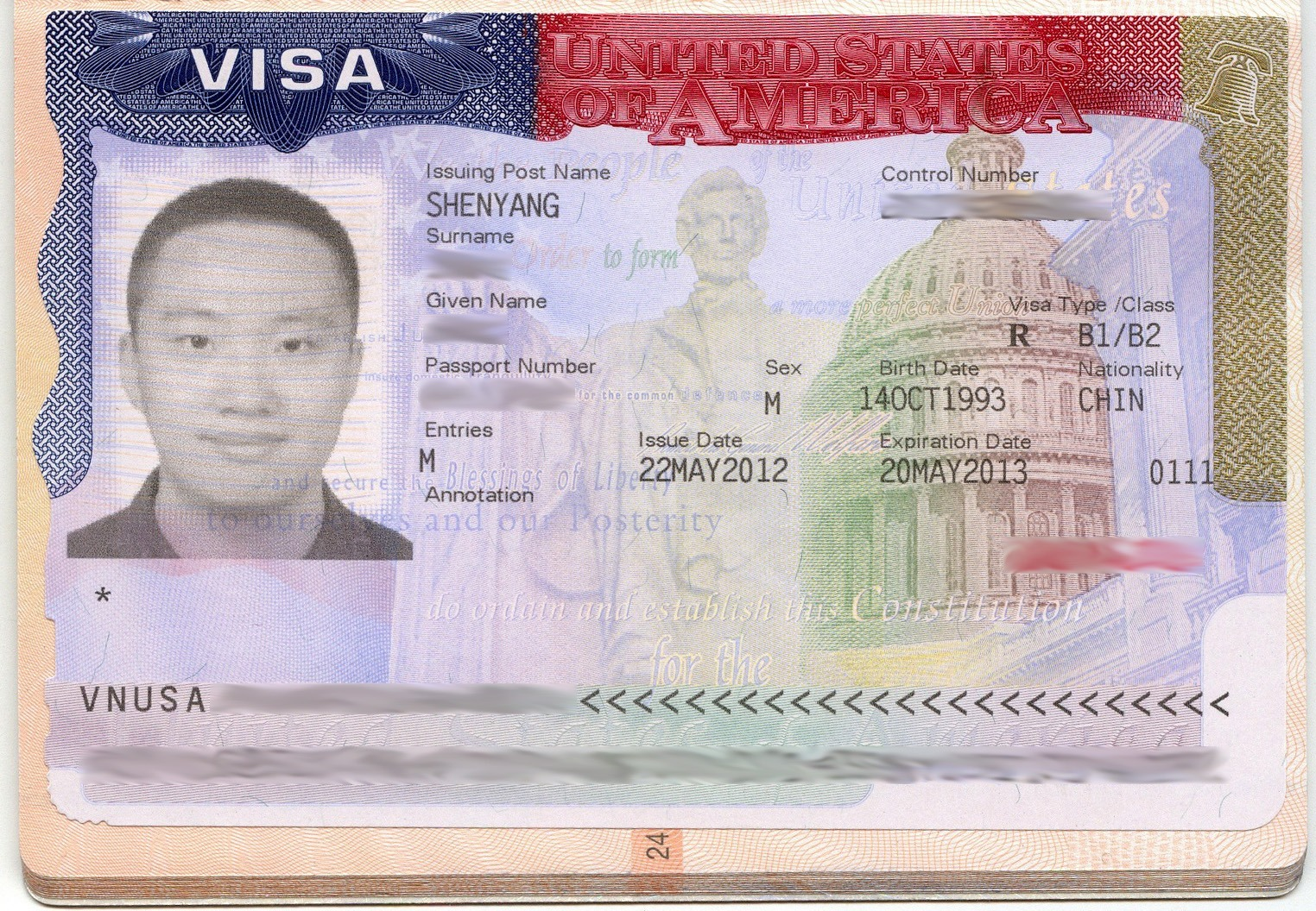 USA visa issued by Shenyang 2012 - How Many Days To Get Us Visa After Interview