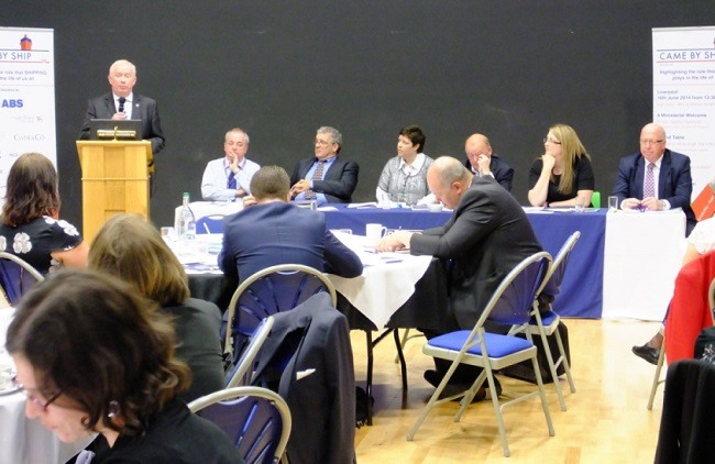 Chris Evans speaking at the WISTA-UK Forum small