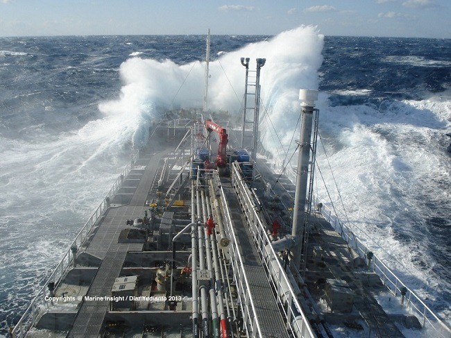 What To Do When Ship Encounters Rough Weather - Cruise ship hits rough seas