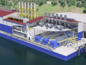 Floating Power and Water Barge (cogeneration) with reverse osmosis equipment