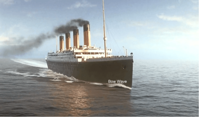 Bow wave (Courtesy: Titanic Motion Picture) Figure 2