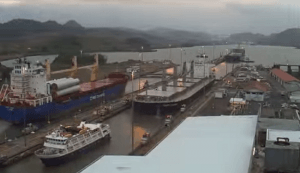 traffic at panama canal