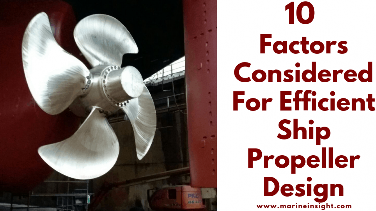 10 Factors Considered For Efficient Ship Propeller Design