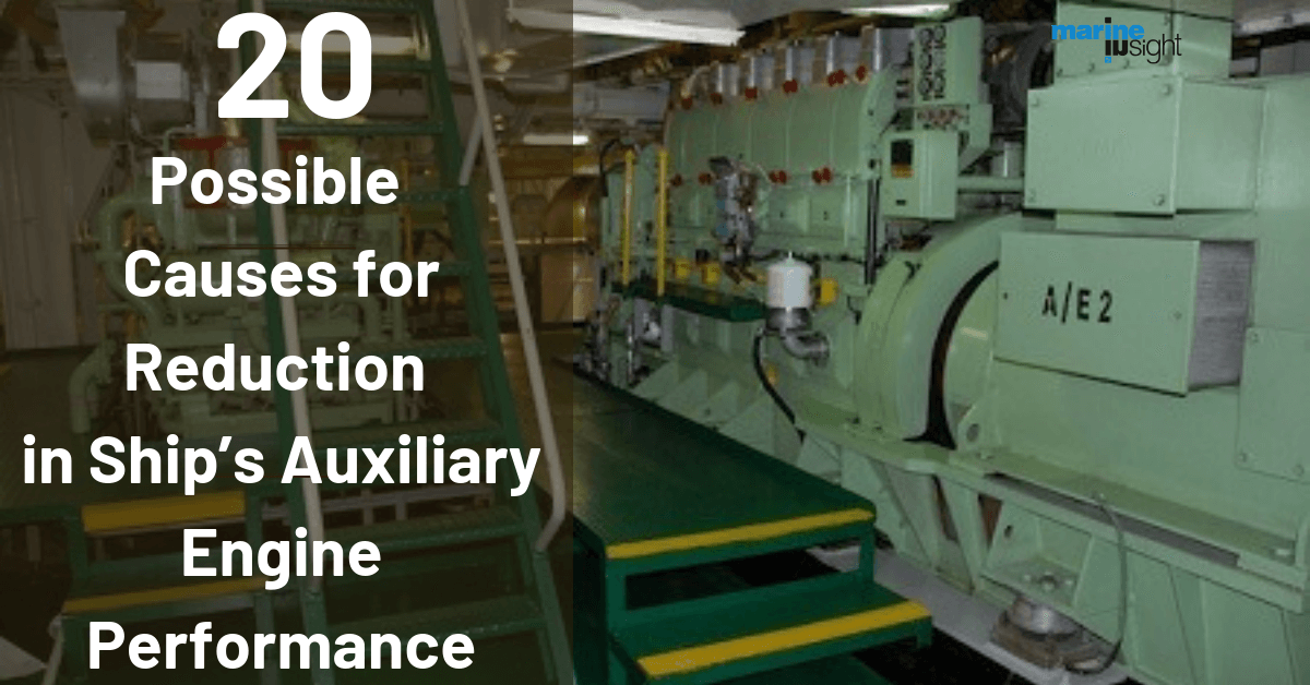 20 Possible Causes for Reduction in Ship's Auxiliary Engine Performance