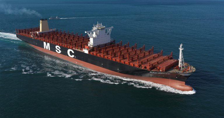 World's Largest Container Ship MSC Oscar With 19224 TEU ...