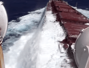 Watch: Ship Caught in Heavy Weather