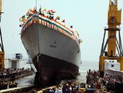 India: New Indigenously Designed Guided Missile Destroyer – Visakhapatnam Launched